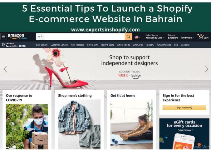 shopify ecommerce Bahrain